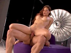 Brunette Beauty Ryder Skye Sucks and Rides a Big Cock
