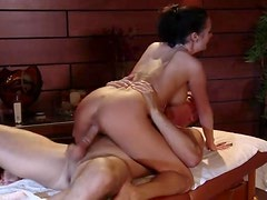 Slutty Brunette MILF Alektra Blue Receives Some Throat Fucking Action