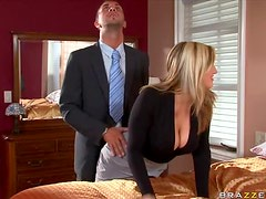 Sensual Blonde Dayna Vendetta Bangs a Big Dick Cowgirl and Doggy Style
