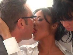 Asian Boss Kaylani Lei Fucks Her Assistant Tory Lane and a Coworker