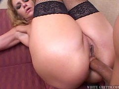 Horny MILF In Lingere Fucks a Teen Guy Like a Whore