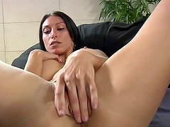 Busty milf tease takes load on tits