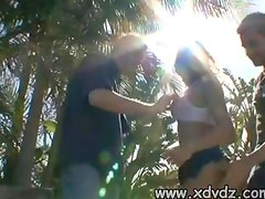 Karia Has A Good Husband That Calls A Friend To Join Him And Fuck Her