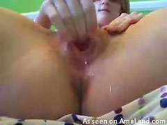 Teen squirts after masturbating