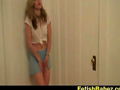 CBT and chastity demo from Abby