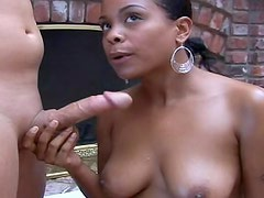 Black girl removes bikini and fucks