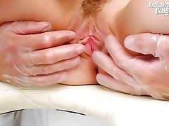 Sandy gyno pussy gaping and speculum examination