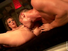 Sexy Babe Deepthroats For Anal Banging and Facial Cumshot