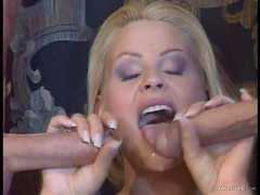 Slutty Blonde Nikki Anderson Gets Double Penetrated In Threesome
