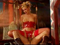 Spectacular Latex Sluts Get Fucked and Facialized In a Hot BDSM Orgy