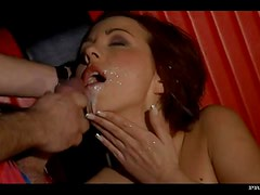 Sexy Brunette Jenny Smile Gets a Double Penetrated By Two Big Cocks
