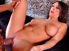 Horny MILF Raven Black Takes On a Big Black Cock