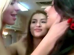 Party teens fucked hard by cock