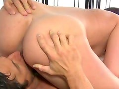 Sexy masseuse blowjob and pussy oral action