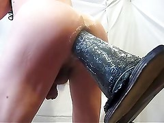 Giant dildo fucks my hot ass