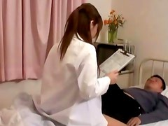 Hot asian nurse hottie gets fingered