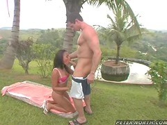 Lusty babes Nivea gets fucked by Peter