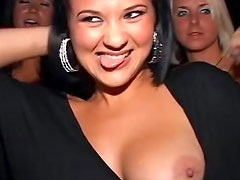 Hardcore threesome at the nightclub party