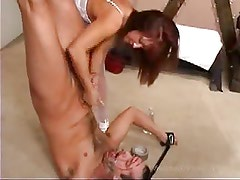 FEMDOM hand job and cum in your mouth