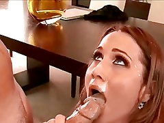 Beautiful Milf gets a great facial