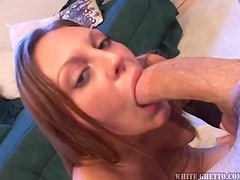 Trista Post makes a cock explode with cum on her boobs
