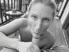 Black and white blowjob with Devon Lee