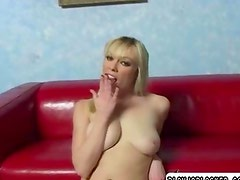 Blonde chick giving head very naughty