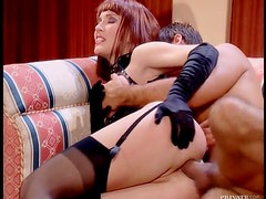 Leather Lover Redhead Daniella Schiffer Getting Fucked