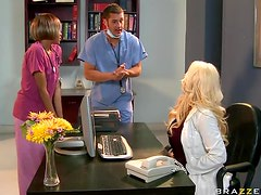 Incredibly Slutty Blonde Babe Candy Manson Gets Fucked By a Male Nurse