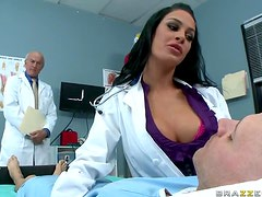 Slutty Brunette Nurse Angelina Valentine Gets Fucked By a Horny Doctor