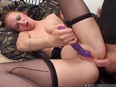 Jacqueline Summers has wild anal sex and gets a creampie