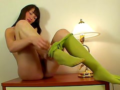 Epic stripping with a brunette