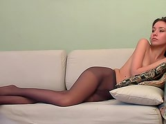 Pantyhose teasing time