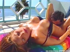 Sexy Demi Fairbanks gets fucked cowgirl in the bedroom