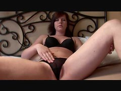 Jerk off instructions from girl in black thong
