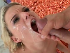 Flexible skinny girl fuck with facial cumshot