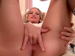 Cute schoolgirl with wicked tight shaved pussy