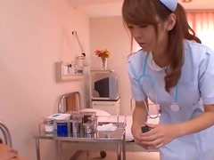 Asian Nurse Sucking Cock