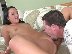 Cute Brunette Teen Deena Daniels Gets Fucked Hard and Then Facialized