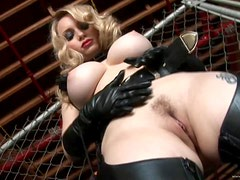 Submissive Blonde MILF Aiden Starr Gets Caged and Then Fucked Hard