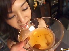 Japanese Slut Drinking Her Own Piss