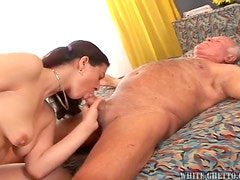 Pigtailed Teen Has Her Pink Pussy Drilled By An Old Man