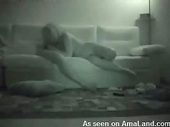 Hot night vision action of kinky action blowjob
