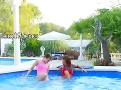shocking pool masturbation of friends