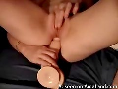Sexy looking chick huge cock anal sex action right here