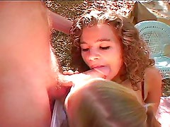 Itty Bitty Titty Kayla Shares A Cock In The Woods