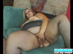 Fatty teases lingerie and sucks dick