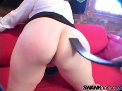 Nice flogging for her fat ass
