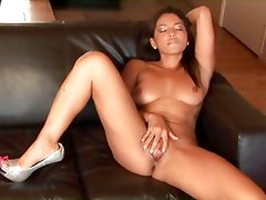 Adriana Luna gives some sweet solo action