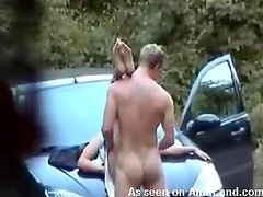 Firm ass fuck fucking his girl outdoors right here